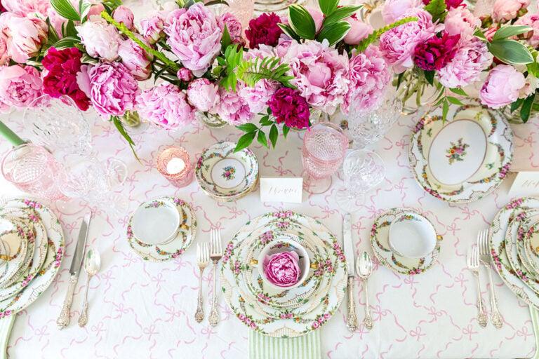 Elegant Floral Tea Party Tablescape