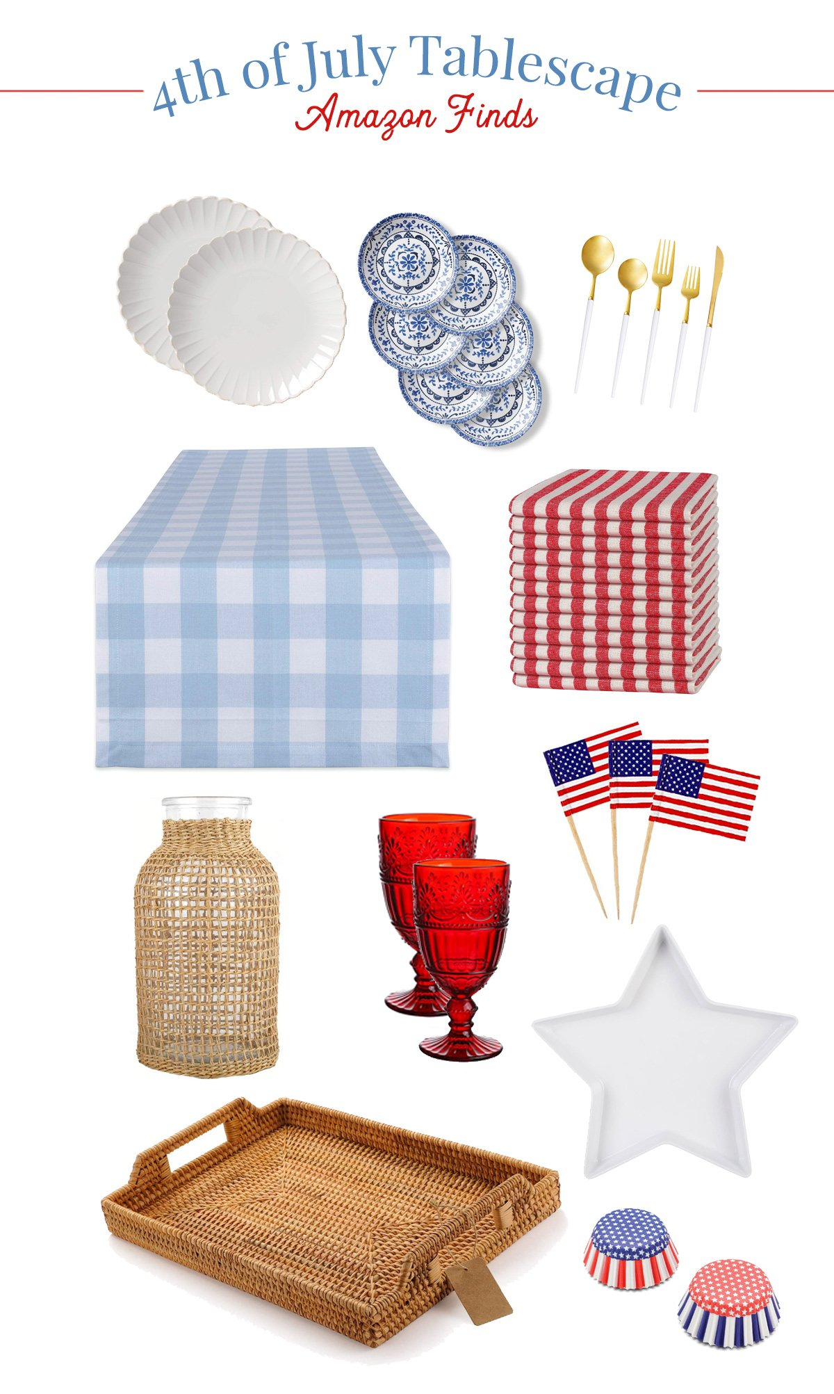 4th of July Party Table Decor
