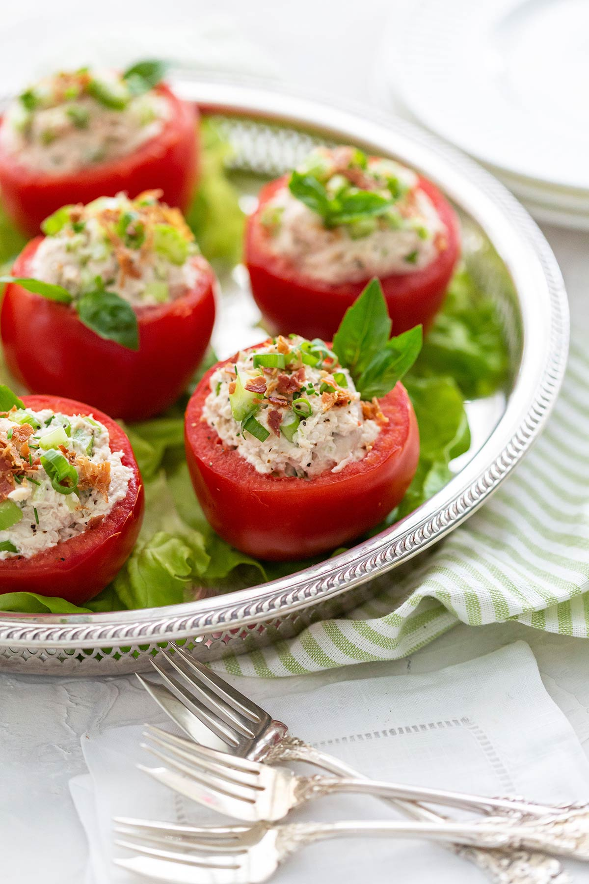 Chicken Salad in a Tomato
