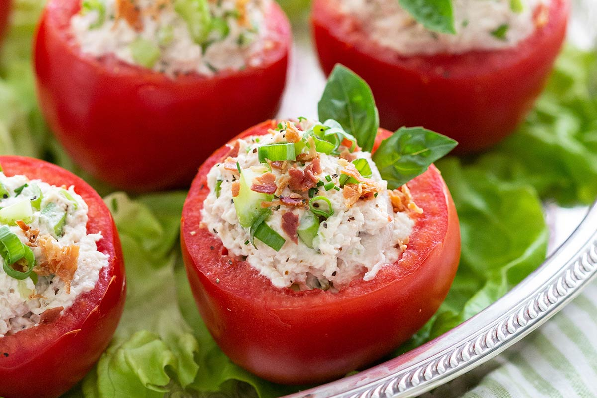 Stuffed Tomatoes with Chicken Salad