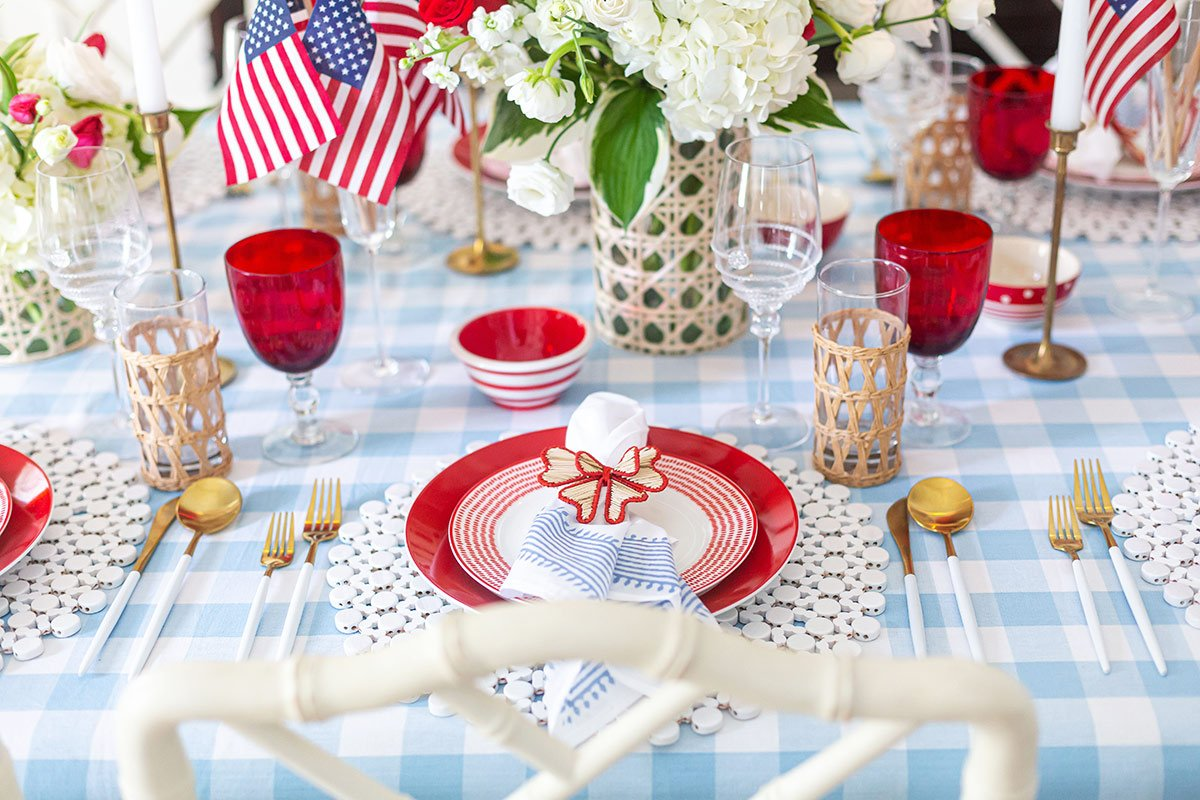 Patriotic July 4th Tablescape