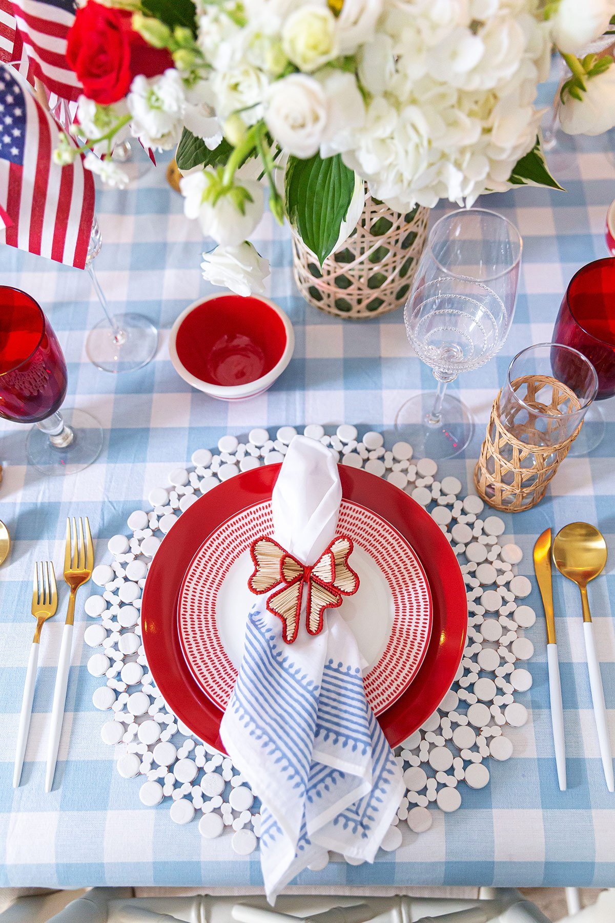 July 4th Place Setting