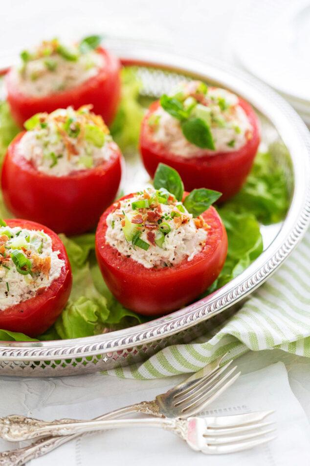 easy chicken salad stuffed tomatoes recipe