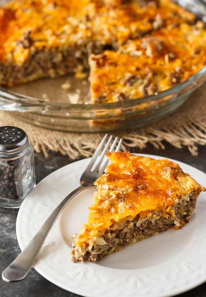 Cheeseburger Pie with Bisquick