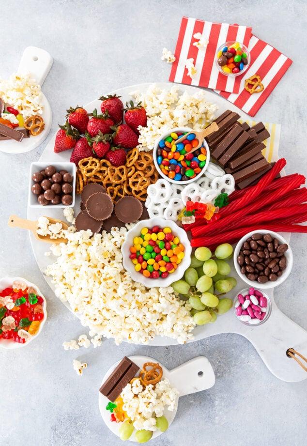 Movie Night Snacks Board