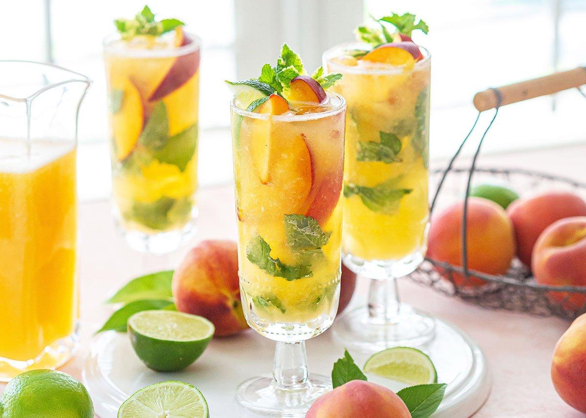 Georgia Peach Mojito Cocktail