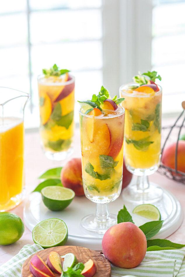 Flavored Peach Mojito