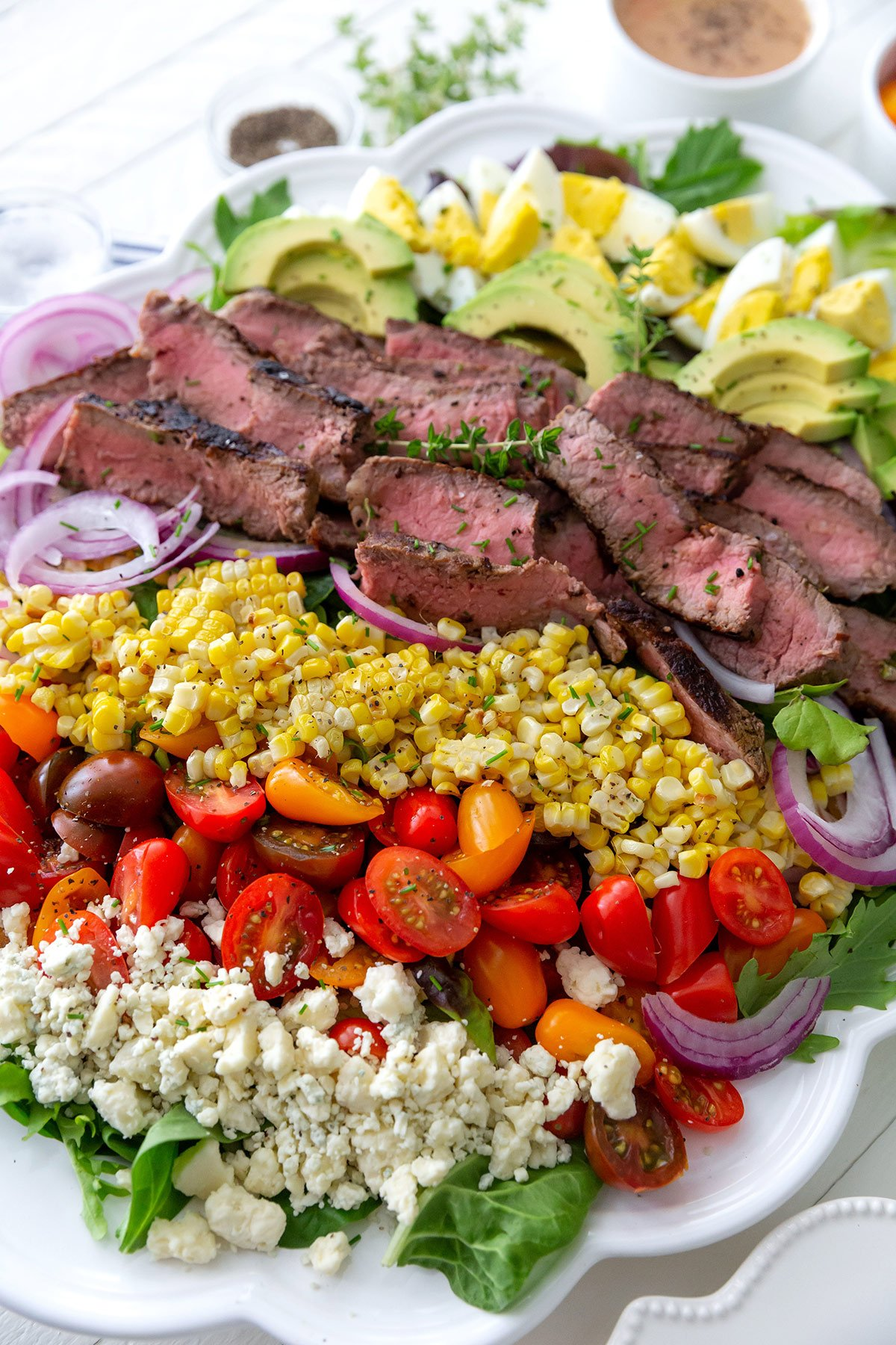 Entree Salad with Steak: Cobb Salad