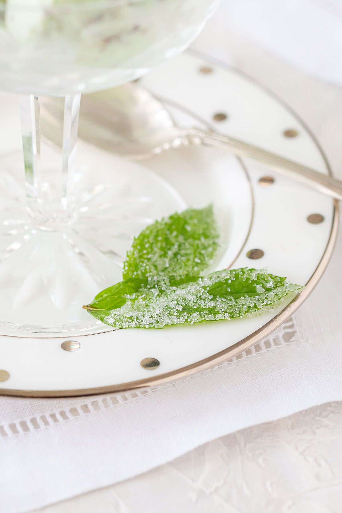 Candied Mint Leaves