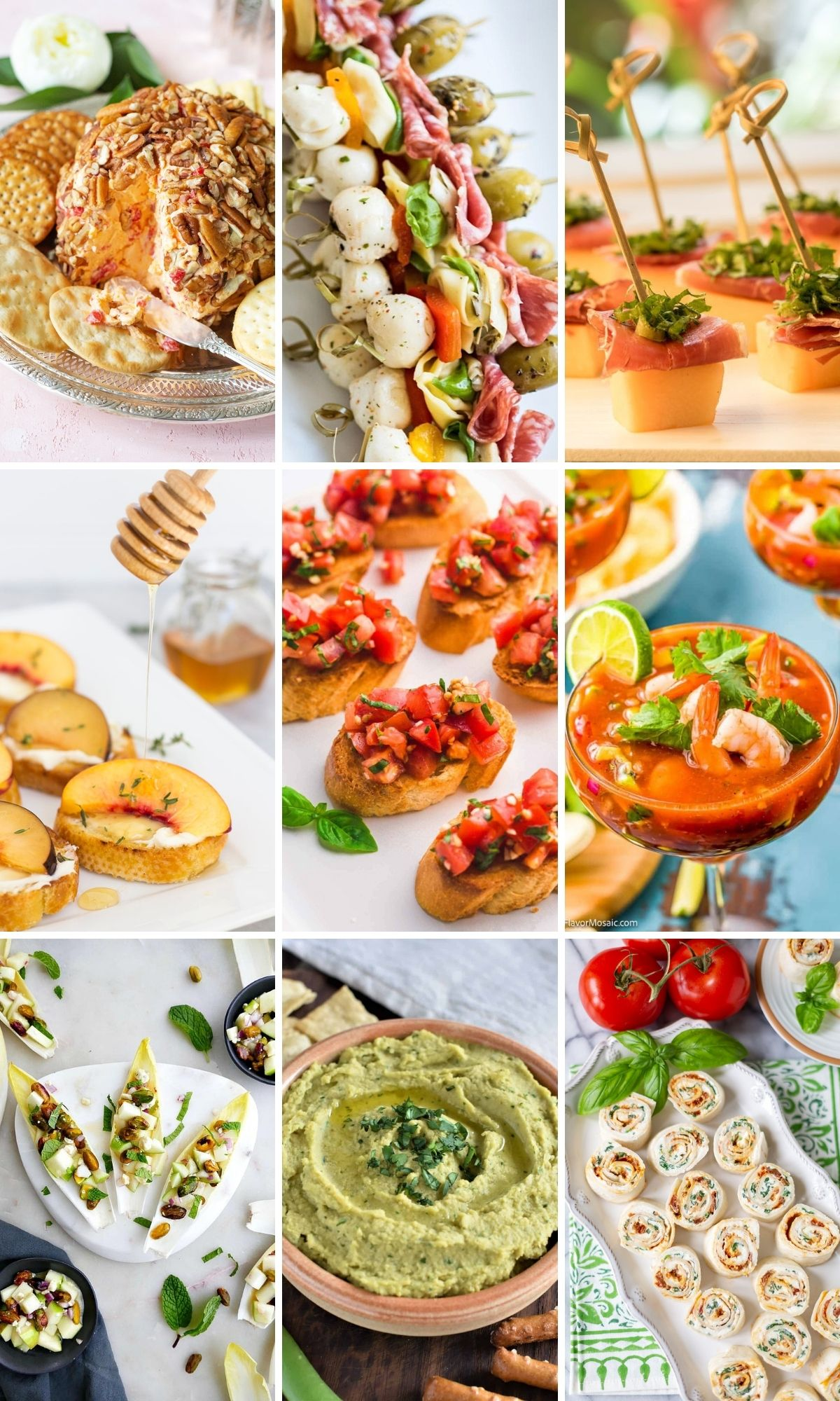 Easy Cold Appetizers for Parties (Finger Foods, Dips Skewers & More!)