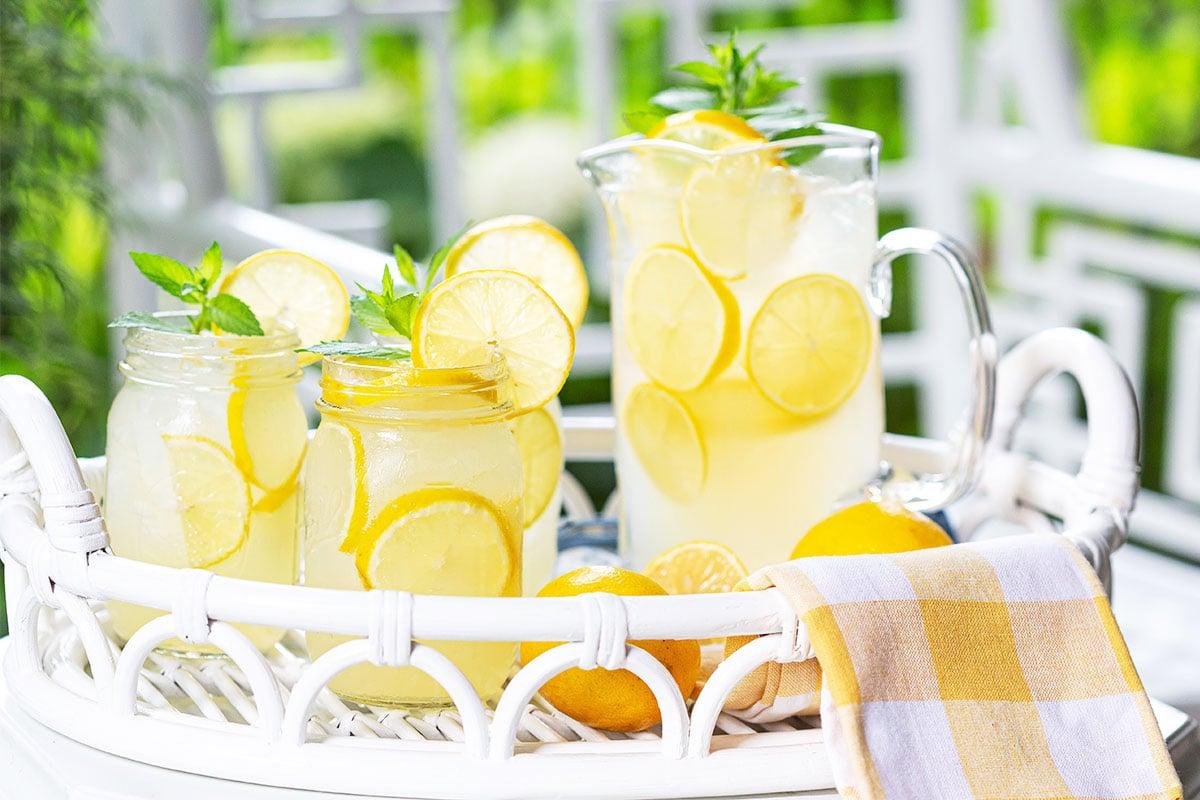 Lemonade in Glasses