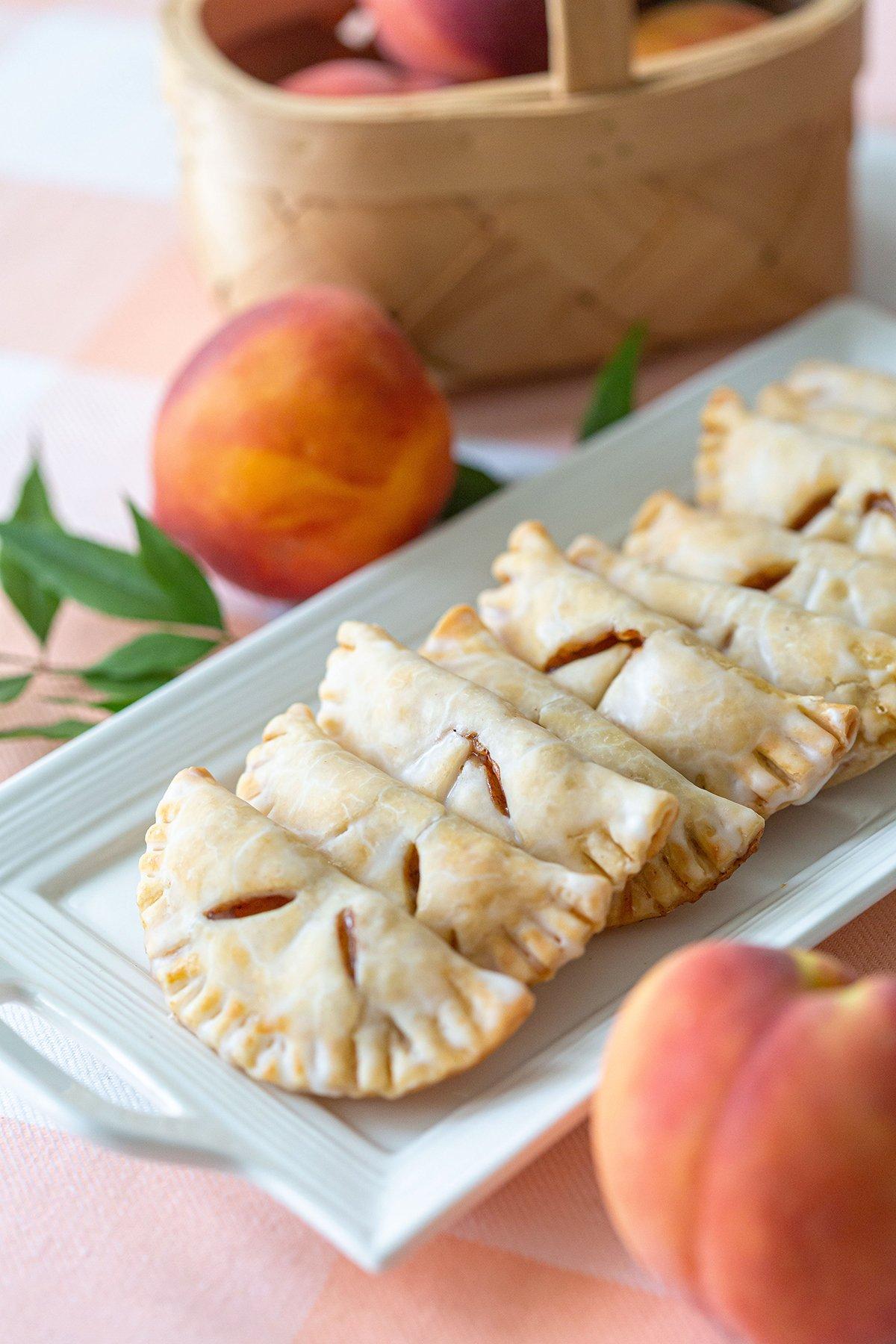 Glazed Peach Hand Pies