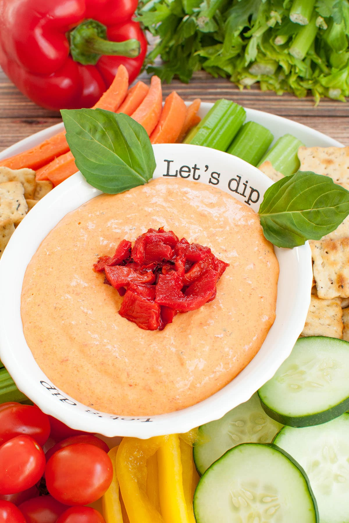 Cold Roasted Red Pepper Dip
