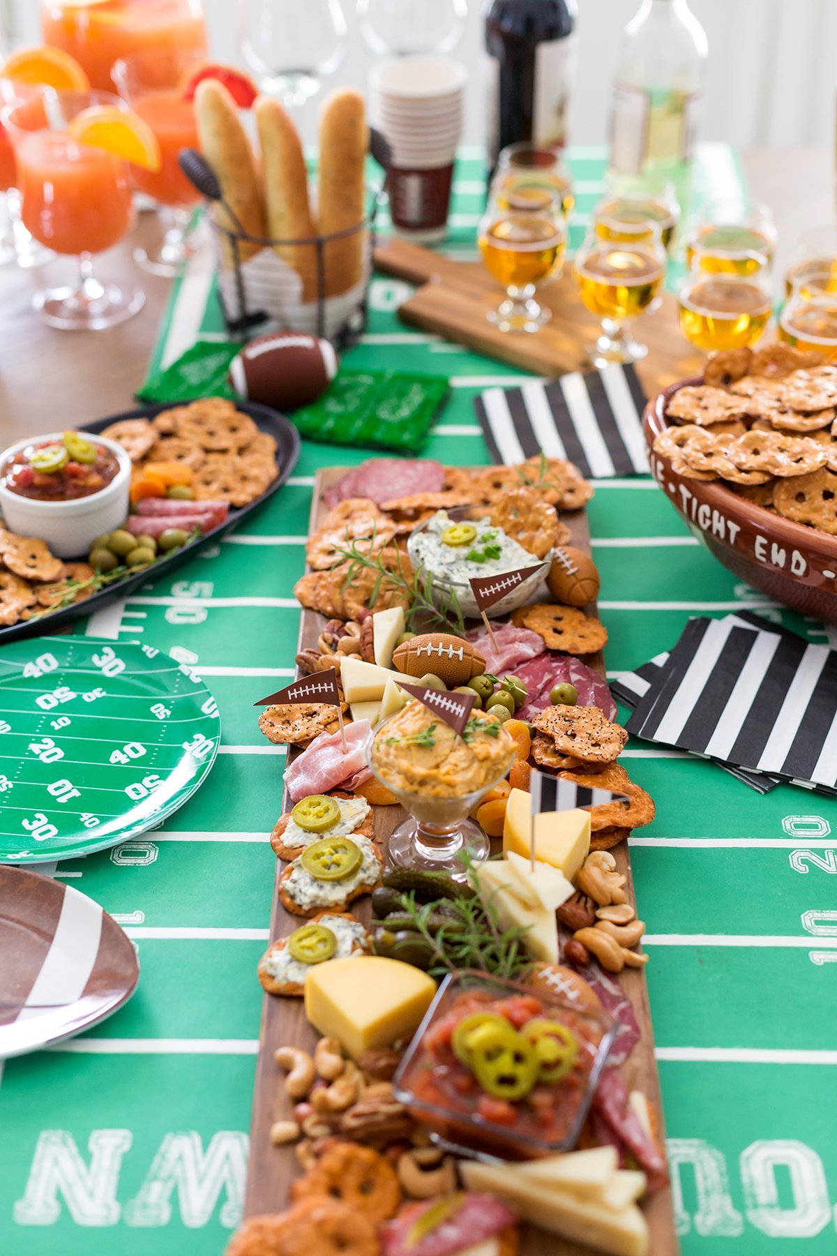 Tailgating & Football Charcuterie Board