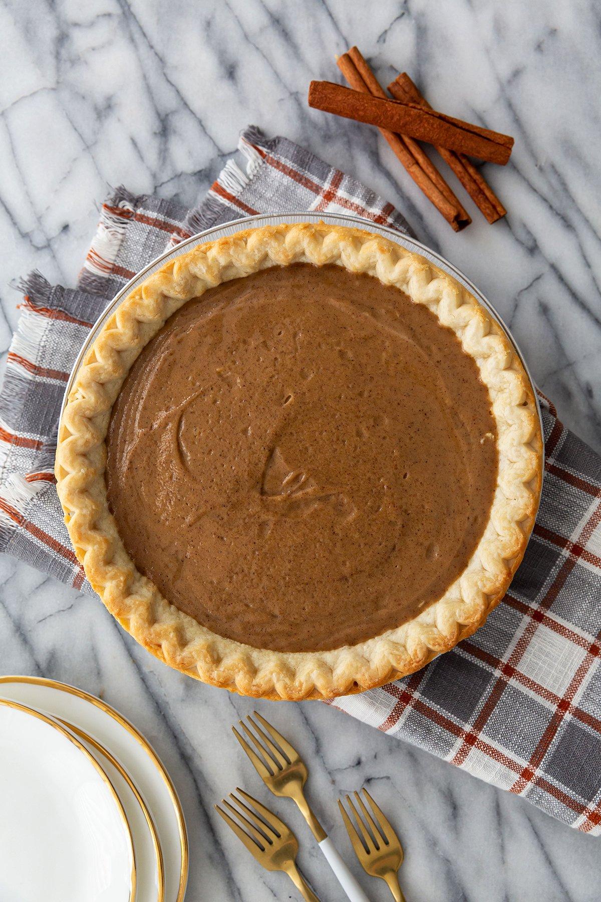 Butterscotch Cinnamon Pie Recipe