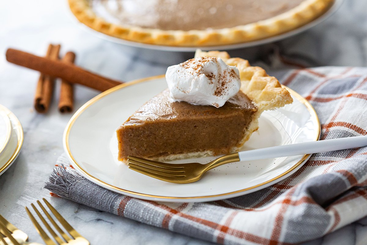 Butterscotch Cinnamon Pie with Whipped Cream