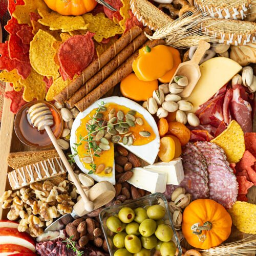 Fall Cheese and Charcuterie Board